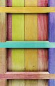 Estante de madera vintage — Foto de Stock