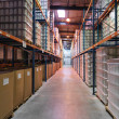 Storage zone in an industrial warehouse - Zdjęcie stockowe