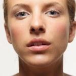 Closeup, beauty portrait of young, beautiful woman — Stock Photo #7986795
