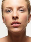 Closeup, beauty portrait of young, beautiful woman — Stock Photo