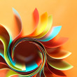 Colored paper structure shaped as the sun — Stock Photo #8452652