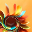Colored paper structure shaped as the sun — Stock Photo