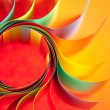 Colored paper structure shaped as the sun — Stockfoto