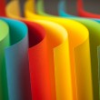 Detail of waved colored paper structure — Stock Photo #8452860