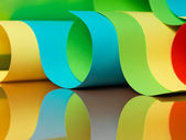 Detail of waved colored paper structure — Stock Photo