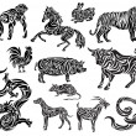 Stylizaed Chinese Zodiac — Stock Vector #7971848