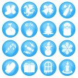 16 Christmas icons - Stockvektor