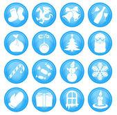 16 iconos de navidad — Vector de stock