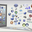 Internet tools and icons — Stockfoto #10065226