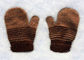 Knitted mittens — Stockfoto