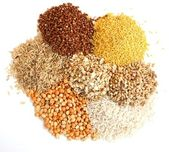 Different kinds of grain — 图库照片