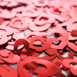 Red hearts confetti — Stock Photo #9745038