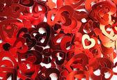 Red hearts confetti — Stock Photo