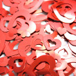 Stock Photo: Red hearts confetti