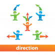 Stock Vector: Direction
