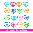 Set - love in the emotional — Stock Vector
