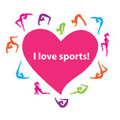 I-love-sports! — Stock Vector