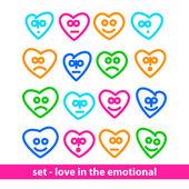 Juego - amor en lo emocional — Vector de stock