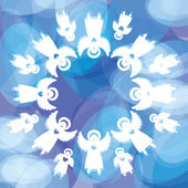Background-angels — Stock Vector