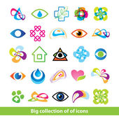 Big-collection-icons — Stock Vector