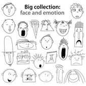 Collection-face-emotion — Stock Vector