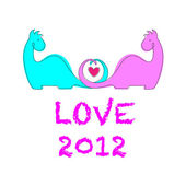 Love2012 Greeting Card — Stock Vector