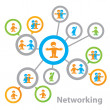 Networking — Stockvectorbeeld