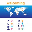 Welcoming — Stock Vector
