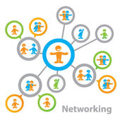 Networking — Vector de stock