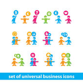 Set-of-universal-business-icons — Stock Vector