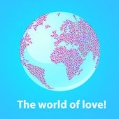 The-world-of-love! — Stock Vector