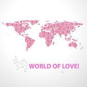 World-of-love — Stockvektor