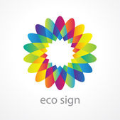 Eco-sign — Stock Vector