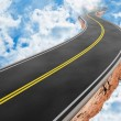 Road in the sky - Stock Photo