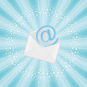 Flying email — Stock Vector