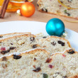 Christmas Stolle — Stock Photo