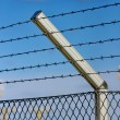 Stock Photo: Razor wire fence
