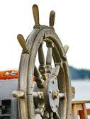 Steering wheel of the ship — Stock Photo