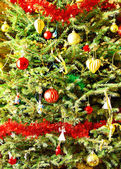 Dekorerad julgran gran — Stockfoto