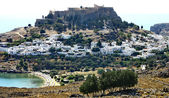 Ancient greek town Lindos — Stock Photo