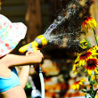 Stock Photo: Watering Flowers