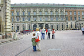The courtyard of the Royal Palace at the Gamla Stan — Stock Photo