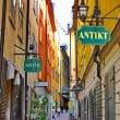 The street of The Old Town (Gamla Stan) in Stockholm - Stockfoto