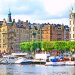 Panorama van stockholm — Stockfoto