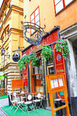 Pub on the street of The Old Town (Gamla Stan) in Stockholm — Stock Photo