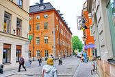 The streets of The Old Town in Stockholm — Stock Photo