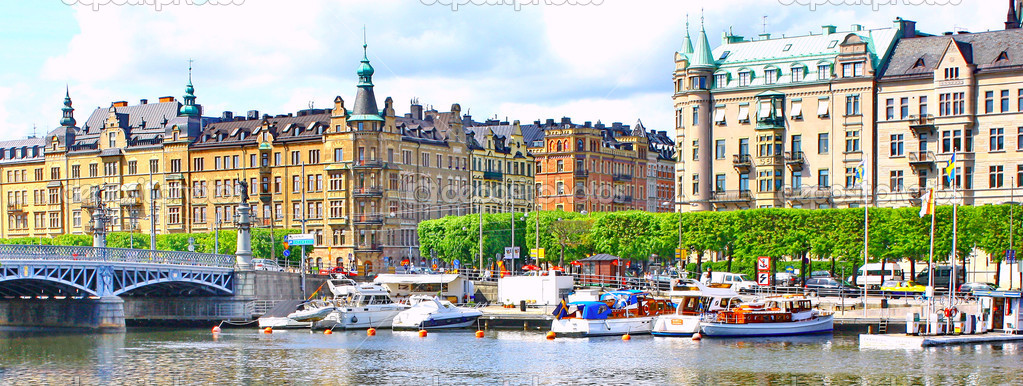 Panorama of Stockholm, Sweden — Stock Photo #9620691