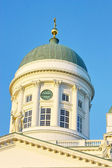Helsinki cathedral on blue sky — Stock Photo