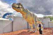 恐龙展在芬兰科学中心 heureka — 图库照片