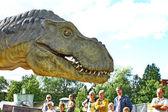 Dinosaurierausstellung im finnischen science centre heureka — Stockfoto